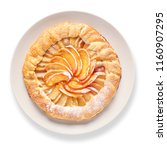 plate with delicious peach... | Shutterstock . vector #1160907295