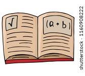 notebook with formulas. vector...   Shutterstock .eps vector #1160908222