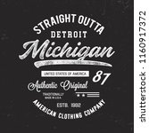 detroit typography. t shirt... | Shutterstock .eps vector #1160917372