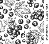 black currant seamless pattern. ... | Shutterstock .eps vector #1160917555
