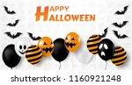 happy halloween . design with...   Shutterstock .eps vector #1160921248