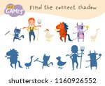 find the correct shadow  ... | Shutterstock .eps vector #1160926552
