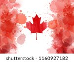 happy canada day background... | Shutterstock .eps vector #1160927182