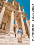 ephesus ruins  turkey  young... | Shutterstock . vector #1160928895