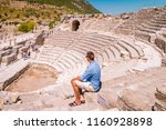ephesus ruins  turkey  young... | Shutterstock . vector #1160928898