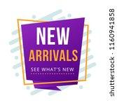 modern new arrival arrivals... | Shutterstock .eps vector #1160941858