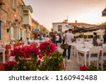 alacati  turkey street view in... | Shutterstock . vector #1160942488