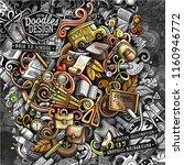 doodles graphic back to school... | Shutterstock .eps vector #1160946772