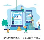 application development  web... | Shutterstock .eps vector #1160947462