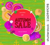 autumn sale flyer template with ... | Shutterstock .eps vector #1160949298