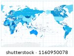 pacific centered world map in... | Shutterstock .eps vector #1160950078