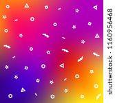 geometric memphis style pattern ... | Shutterstock .eps vector #1160956468
