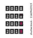 countdown flip timer 2018 to... | Shutterstock .eps vector #1160963515