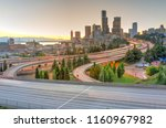 seattle modern skylines and... | Shutterstock . vector #1160967982