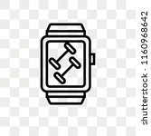 smartwatch vector icon isolated ... | Shutterstock .eps vector #1160968642