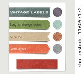 set of vintage labels  stickers ... | Shutterstock .eps vector #116097172