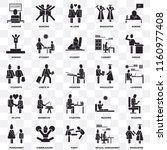 set of 25 transparent icons... | Shutterstock .eps vector #1160977408