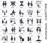 set of 25 transparent icons... | Shutterstock .eps vector #1160977498