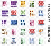 set of 25 transparent icons... | Shutterstock .eps vector #1160978368