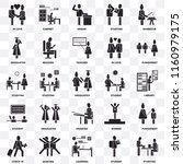 set of 25 transparent icons... | Shutterstock .eps vector #1160979175