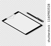 clipboard with clamp  clutch.... | Shutterstock .eps vector #1160983528