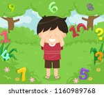 illustration of a kid boy... | Shutterstock .eps vector #1160989768