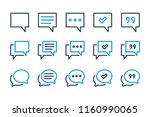 simple chat related line icon... | Shutterstock .eps vector #1160990065