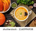funny food for halloween.... | Shutterstock . vector #1160996938