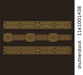 ornamental tracery and borders. ...   Shutterstock .eps vector #1161001438
