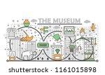 museum poster banner template.... | Shutterstock .eps vector #1161015898