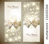 greeting cards with white bows... | Shutterstock .eps vector #116102266