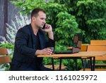 confident young businessman...   Shutterstock . vector #1161025972