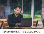 young caucasian businessman...   Shutterstock . vector #1161025978