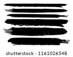 collection of hand drawn black... | Shutterstock .eps vector #1161026548