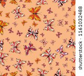 background for fabric  textile  ...   Shutterstock . vector #1161032488