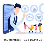 life and health insurance  real ... | Shutterstock .eps vector #1161034528