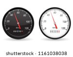 speedometer. black and white... | Shutterstock .eps vector #1161038038