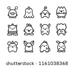 vector set of cartoon cute...
