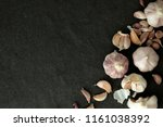 close up group of a garlic on... | Shutterstock . vector #1161038392