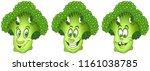 broccoli. healthy food concept. ... | Shutterstock .eps vector #1161038785