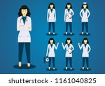 the professional young woman... | Shutterstock .eps vector #1161040825