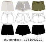 women's clothing set  shorts | Shutterstock .eps vector #1161043222