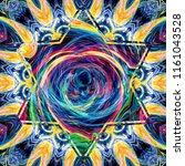 creative bright mandala....   Shutterstock . vector #1161043528