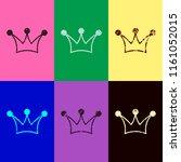 Crown Icon. Pop Art Style....