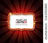 retro light sign. vintage style ...   Shutterstock . vector #1161052885
