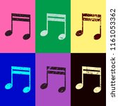 music note icon. pop art style. ...