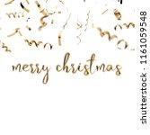 merry christmas golden hand... | Shutterstock . vector #1161059548