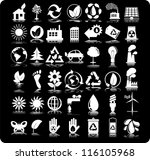 set of 42  forty two  ecology... | Shutterstock .eps vector #116105968