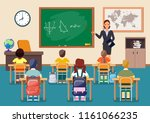 different multicultural school... | Shutterstock .eps vector #1161066235