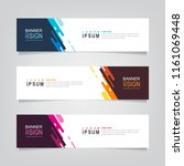 vector abstract web banner... | Shutterstock .eps vector #1161069448
